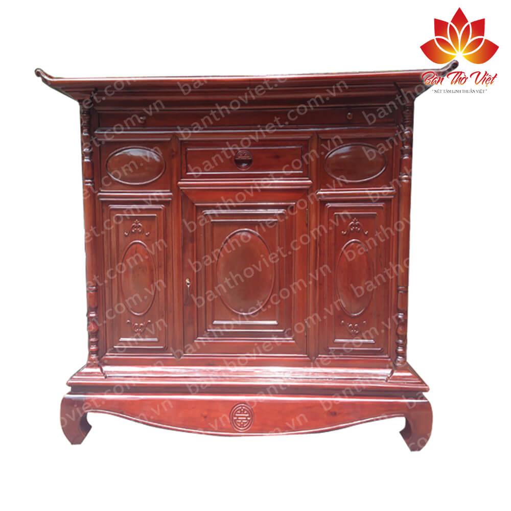 Vì sao tủ thờ gỗ dâu lại được nhiều khách hàng lựa chọn