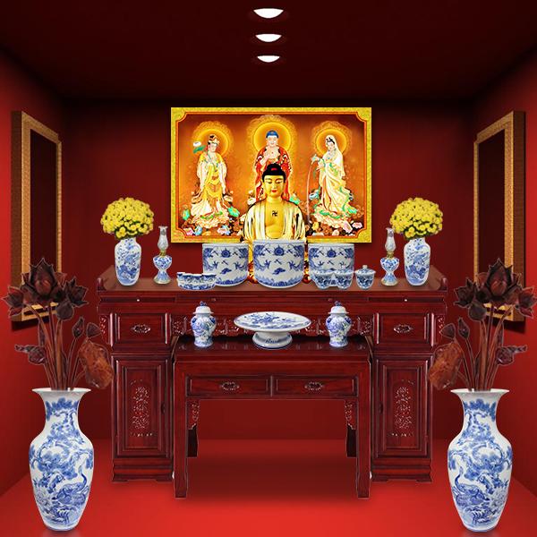 Bàn thờ Phật có thể đặt ở mọi phương, mọi hướng
