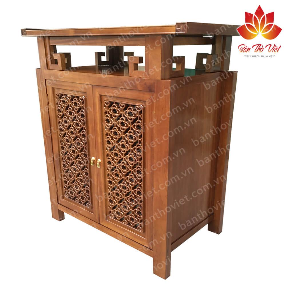 Một số mẫu tủ thờ gỗ gụ đẹp mang nhiều ý nghĩa tâm linh