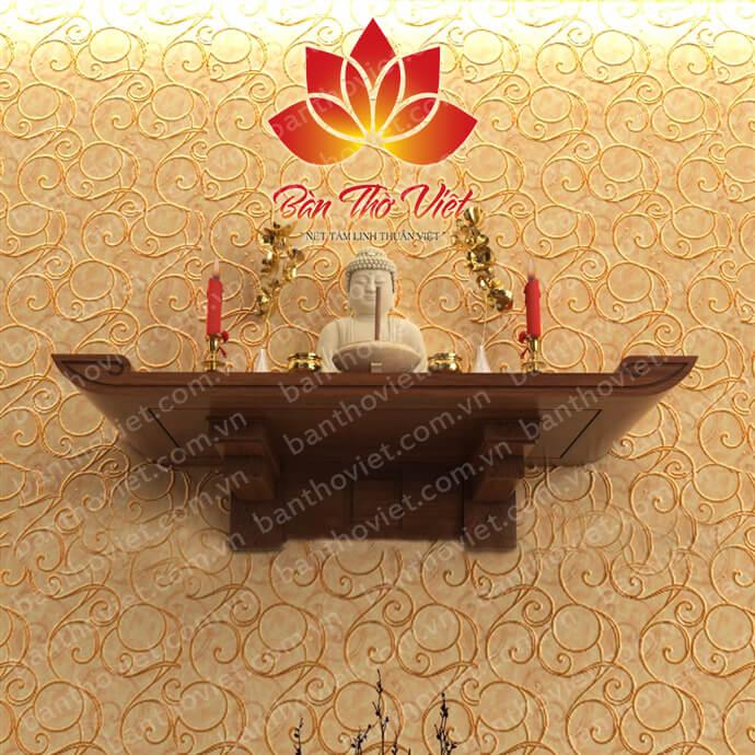 Tuyển chọn 10+ mẫu bàn thờ treo gỗ mít cho nội thất Việt