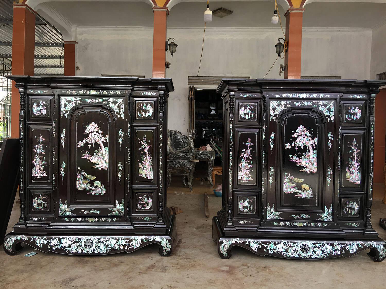 Ngắm nhìn những mẫu tủ thờ cổ quý hiếm ngày xưa