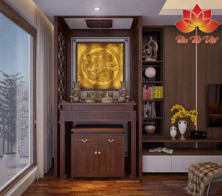 Tủ thờ ở phòng khách là sản phẩm nổi bật dành chô sự lựa chọn của khách hàng và các sản phẩm bàn thờ treo tường