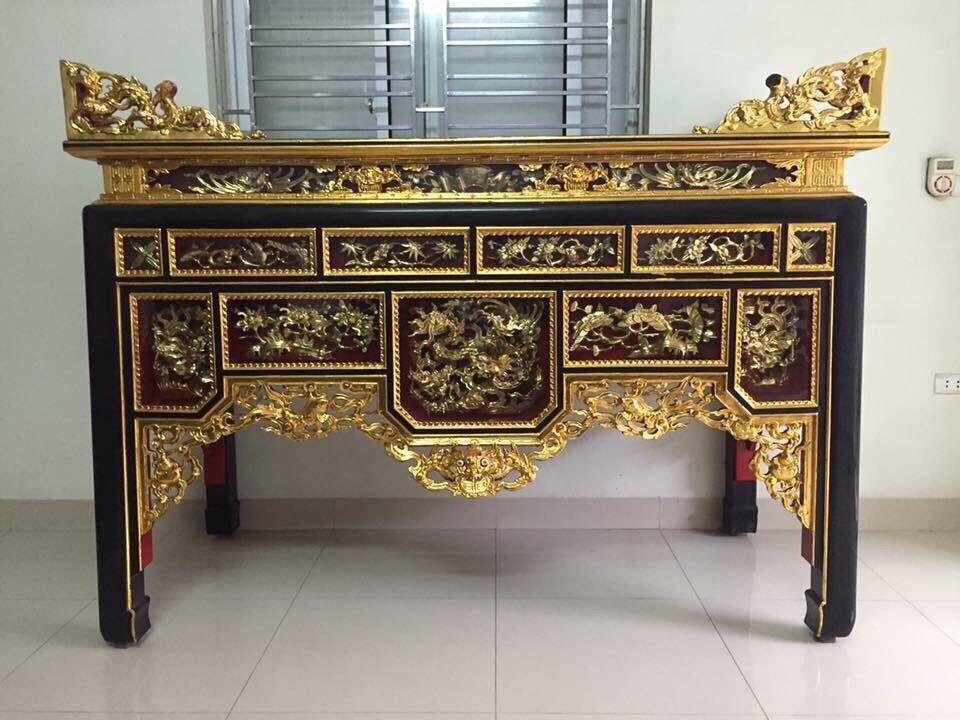 Tổng hợp những mẫu tủ thờ sơn son thếp vàng Hiếm có tại Việt Nam