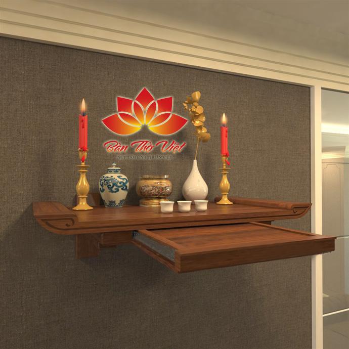 Tham khảo hình ảnh sản phẩm bàn thờ treo tường 3 tầng tại Bàn thờ Việt