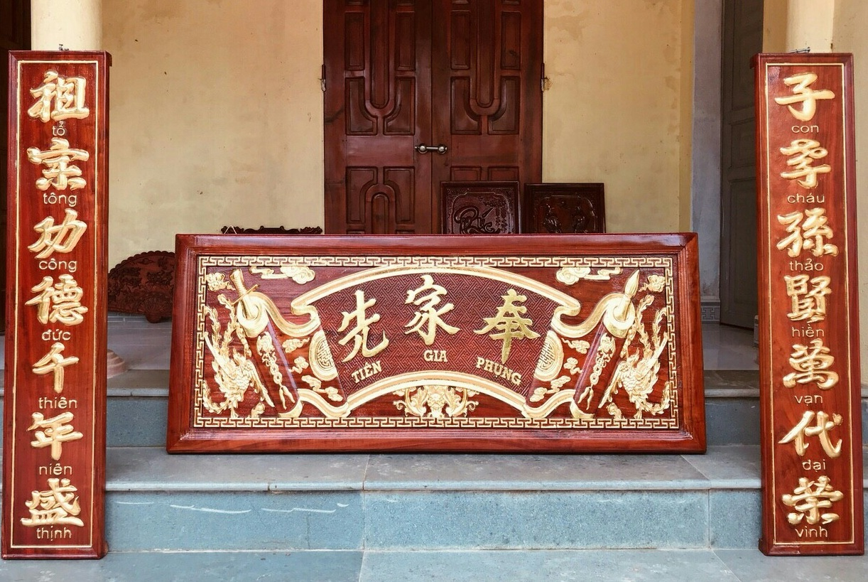 Dịch vụ tại Bàn thờ Việt và các chương trình liên quan đến liễn treo bàn thờ
