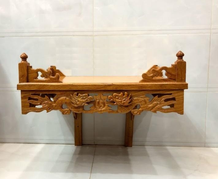 Ý nghĩa tâm linh lớn của sản phẩm bàn thờ treo chạm rồng với niềm tin của người Việt Nam